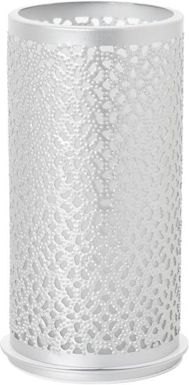 Duni Kerzenhalter Bliss silber, aus Metall für Maxi-Teelichter oder LED 140x75mm 4er-Set