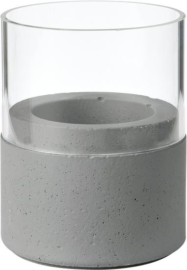 Duni Kerzenhalter Neat dark grey, Glas 75 x 68 mm 1 Stück