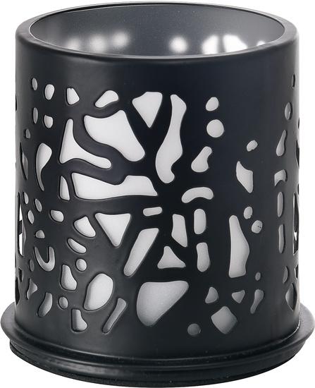 Duni Kerzenhalter Twine schwarz, Metall 75 x 75 mm 1 Stück