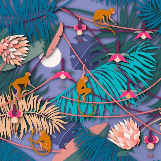 Duni Servietten Tissue Hey monkeys 33 x 33 cm 20 Stück