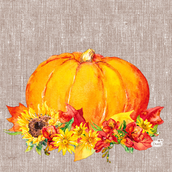 Duni Tissue Servietten Autumn Pumpkin 33 x 33 cm 20 Stück