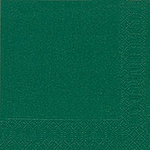 Duni Cocktail-Servietten 3lagig Tissue Uni dunkelgrün, 24 x 24 cm, 20 Stück