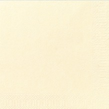 Duni Servietten 3lagig Tissue Uni champagne, 33 x 33 cm, 20 Stück