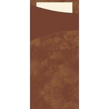 Duni Sacchetto Serviettentasche Uni café, 8,5 x 19 cm, Tissue Serviette 2lagig cream, 100 Stück