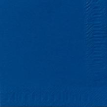 Duni Servietten 3lagig Tissue Uni dunkelblau, 33 x 33 cm, 50 Stück