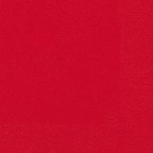 Duni Servietten 3lagig Tissue Uni rot, 33 x 33 cm, 50 Stück