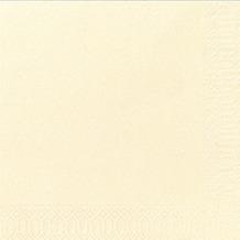 Duni Servietten 3lagig Tissue Uni champagne, 33 x 33 cm, 50 Stück