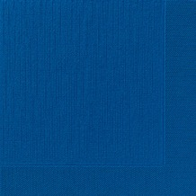 Duni Dinner-Servietten 4lagig Tissue geprägt Uni dunkelblau, 40 x 40 cm, 50 Stück