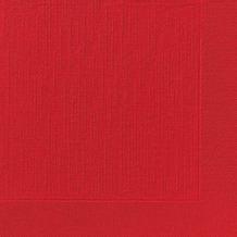 Duni Dinner-Servietten 4lagig Tissue geprägt Uni rot, 40 x 40 cm, 50 Stück