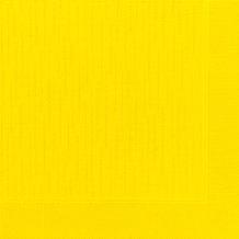 Duni Dinner-Servietten 4lagig Tissue geprägt Uni gelb, 40 x 40 cm, 50 Stück