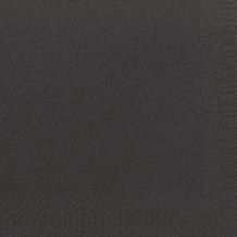 Duni Dinner-Servietten 3lagig Tissue Uni schwarz, 40 x 40 cm, 250 Stück