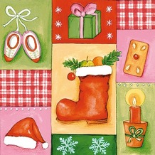 Duni Servietten 3lagig Tissue Motiv Christmas Toys, 33 x 33 cm, 20 Stück