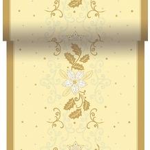 Duni Dunicel-Tischläufer 3 in 1, alle 40 cm perforiert, Motiv Festive Spirit Champagne, 40 cm x 4,8 m