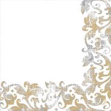 Duni Poesie-Servietten aus Dunilin Motiv Festiva white, 40 x 40 cm, 50 Stück