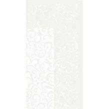 Duni Mitteldecken aus Dunicel Motiv Sarala weiß, 84 x 84 cm, 20 Stück
