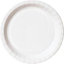 Duni Pappteller laminiert weiß, ø 26 cm, 20 Stück