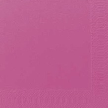 Duni Dinner-Servietten 3lagig Tissue Uni fuchsia, 40 x 40 cm, 250 Stück