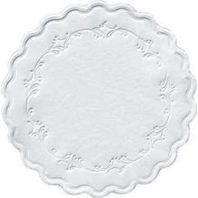Duni Untersetzer 8lagig Tissue Uni Romance weiß, ø 9 cm, 250 Stück