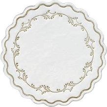 Duni Untersetzer 8lagig Tissue Uni Romance gold, ø 9 cm, 250 Stück