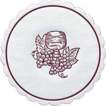 Duni Untersetzer 8lagig Tissue Uni Traube bordeaux, ø 10,5 cm, 250 Stück