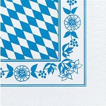 Duni Servietten 3lagig Tissue Motiv Bayernraute, 33 x 33 cm, 250 Stück