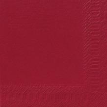 Duni Dinner-Servietten 3lagig Tissue Uni bordeaux, 40 x 40 cm, 250 Stück