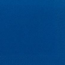 Duni Dinner-Servietten 3lagig Tissue Uni dunkelblau, 40 x 40 cm, 250 Stück