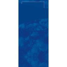 Duni Sacchetto Serviettentasche Uni dunkelblau, 8,5 x 19 cm, Tissue Serviette 2lagig dunkelblau, 100 Stück