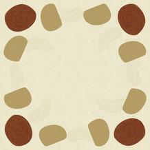 Duni Dunicel-Mitteldecken Earthy 84 x 84 cm 100 Stück
