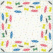 Duni Dunicel-Mitteldecken El Carneval 84 x 84 cm unverpackt 20 Stück