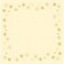 Duni Duni Dunicel-Mitteldecken Star Stories Cream 84 x 84 cm 100 Stück