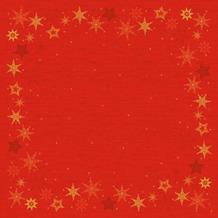 Duni Duni Dunicel-Mitteldecken Star Stories Red 84 x 84 cm 100 Stück
