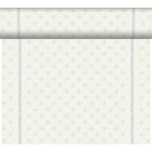 Duni Dunicel-Tischläufer Tête-à-Tête Glitter White 24 m x 0,4 m (20 Abschnitte) 1 Stück