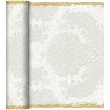 Duni Dunicel-Tischläufer Tête-à-Tête Royal White, 40cm breit, perforiert 1 Stück
