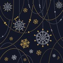 Duni Dunilin-Servietten Snowflake Necklace Black 40 x 40 cm 1/ 4 Falz 50 Stück
