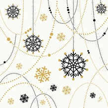 Duni Dunilin-Servietten Snowflake Necklace White 40 x 40 cm 1/ 4 Falz 50 Stück