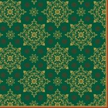 Duni Dunilin-Servietten Xmas Deco Green 40 x 40 cm 1/ 4 Falz 50 Stück
