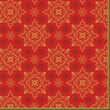 Duni Dunilin-Servietten Xmas Deco Red 40 x 40 cm 1/ 4 Falz 50 Stück