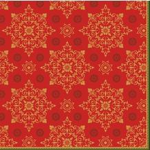 Duni Dunilin-Servietten Xmas Deco Red 48 x 48 cm 1/ 4 Falz 40 Stück