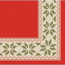 Duni Dunilin Servietten Urban Yule Red 48x48 cm 1/ 4 Falz 40 Stück