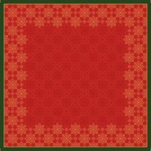Duni Dunisilk-Mitteldecken Xmas Deco Red 84 x 84 cm 20 Stück