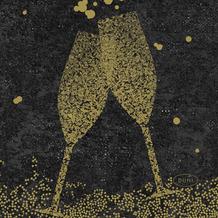 Duni Duni Dunisoft-Servietten Celebrate Black 20 x 20 cm 180 Stück