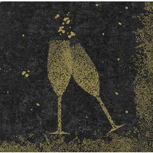 Duni Duni Dunisoft-Servietten Celebrate Black 40 x 40 cm 60 Stück