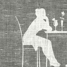 Duni Dunisoft-Servietten, Motiv Lounge vintage 20x20 cm 180 St.
