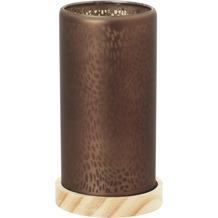 Duni Kerzenglas für Nachfüller und Teelichte Blush brown 150x80mm
