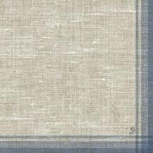 Duni Klassik-Servietten Motiv Linus blue 40x40 cm 4lagig, geprägt 1/ 4 Falz 50 St.