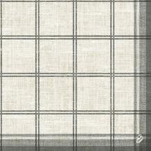 Duni Klassik-Servietten Motiv Linus Classic black 40x40 cm 4lagig, geprägt 1/ 4 Falz 50 St.