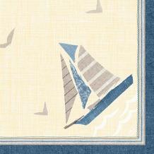 Duni Klassik-Servietten Seaway 40 x 40 cm 4lagig, geprägt, 1/ 4 Falz 50 Stück