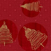 Duni Duni Klassikservietten Elegant Trees 40 x 40 cm 50 Stück