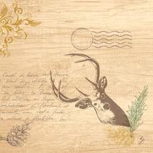 Duni Klassikservietten My Deer 40 x 40 cm 4-lagig, geprägt 1/ 4 Falz 50 Stück